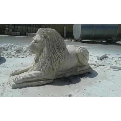 مجسمه سنگی طرح شیر سنگی