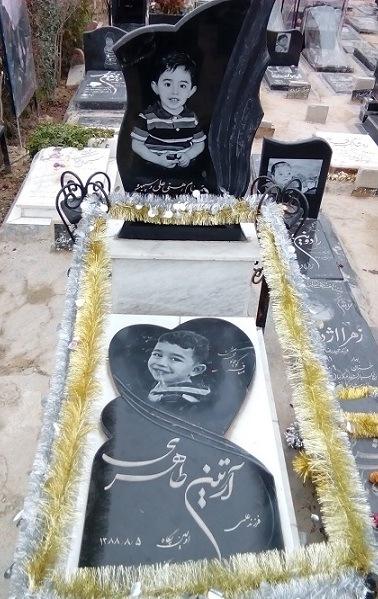 سنگ قبر کودک 10 - خرید و سفارش اینترنتی سنگ قبر کودک در سایت سنگ رضوان